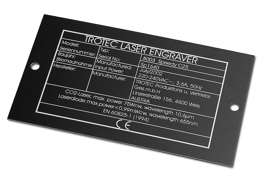 ID tags are engraved with a laser